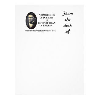 Sometimes A Scream Is Better Than A Thesis Emerson Letterhead