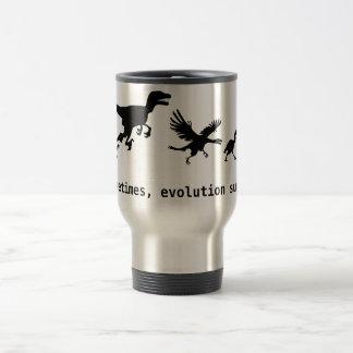 Sometimes, evolution sucks 15 oz stainless steel travel mug