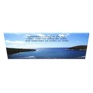 Sometimes He Makes Us Swim Wrapped Canvas