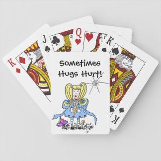 Sometimes Hugs Hurt! Playing Cards