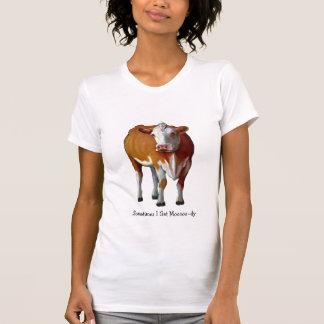 Sometimes I Get Moody: Cow: Pastel: Moo: Humor T Shirt