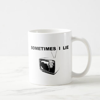 Sometimes I Lie Classic White Coffee Mug
