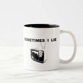 Sometimes I Lie Two-Tone Coffee Mug