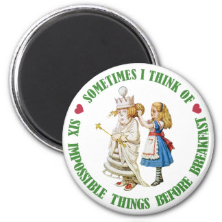 SOMETIMES I THINK OF SIX IMPOSSIBLE THINGS MAGNETS