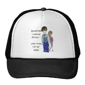 Sometimes I wake-up Grumpy funny saying art Trucker Hat