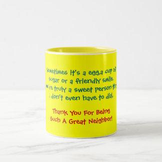 Sometimes it's a egg,a cup ofsugar or a friendl...