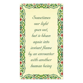 Sometimes  our light  goes out,  but is blown Double-Sided standard business cards (Pack of 100)