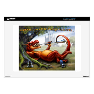 Sometimes the Dragon Wins - Red Laptop Skin
