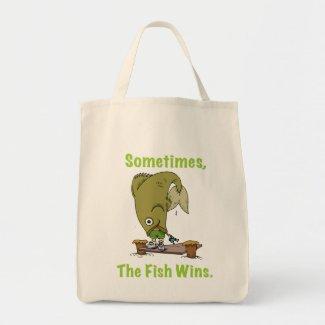 Sometimes The Fish Wins Bag bag