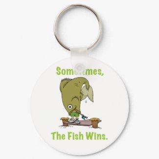 Sometimes the Fish Wins Keychain keychain