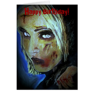 'Sometimes They Come Home' (Zombie) Birthday Card