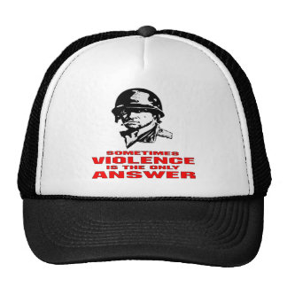 Sometimes Violence Is The Only Answer Trucker Hat