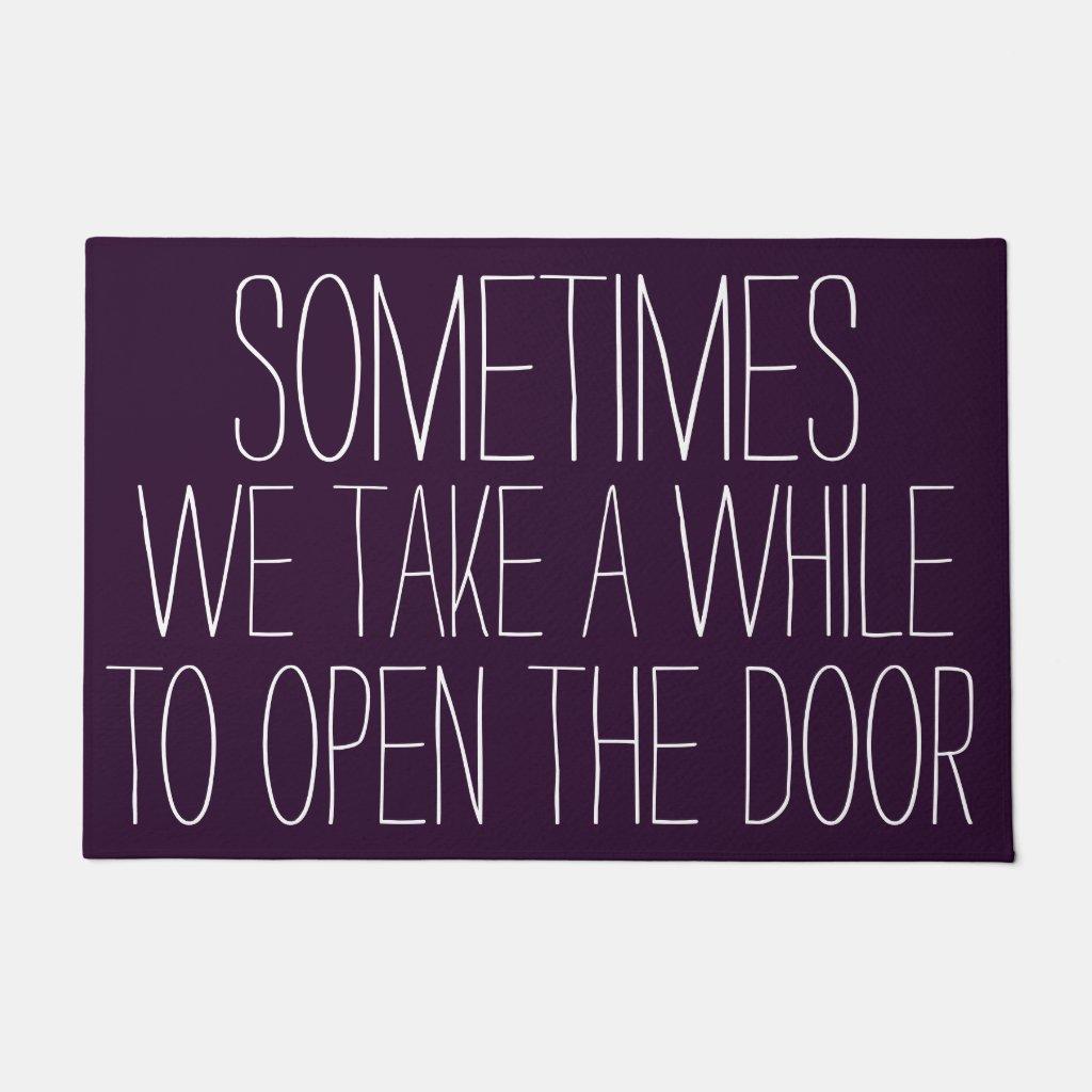 Funny Purple Doormat