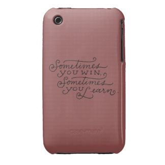 sometimes you win sometimes you learn Case-Mate iPhone 3 cases