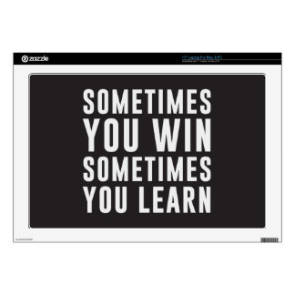 Sometimes you win, sometimes you learn laptop decal