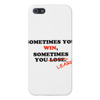 Sometimes You Win...Typography Motivational Phrase Cover For iPhone SE/5/5s