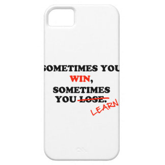 Sometimes You Win...Typography Motivational Phrase iPhone SE/5/5s Case