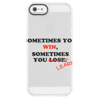 Sometimes You Win...Typography Motivational Phrase Permafrost iPhone SE/5/5s Case