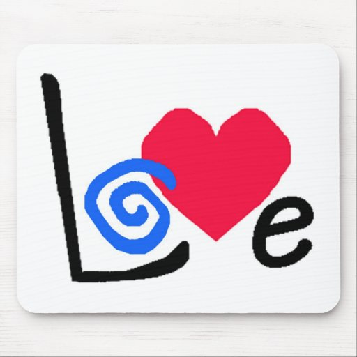 sometimessophia love logo mousepad