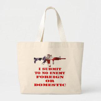 Someto a ningún extranjero enemigo o nacional bolsa de mano
