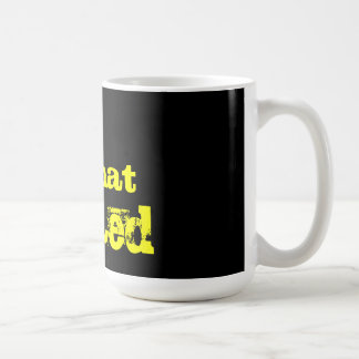 somewhat warped coffee mug