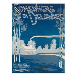 Somewhere In Delaware Postcard
