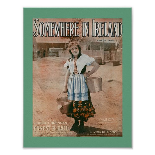 Somewhere in Ireland Sheet Music Cover Copy 1917