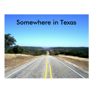 Somewhere In Texas Postcard