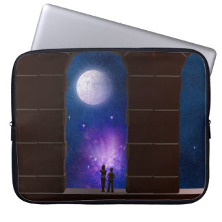 Somewhere in Time and Space laptop sleeve