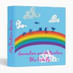 Somewhere over the rainbow binder