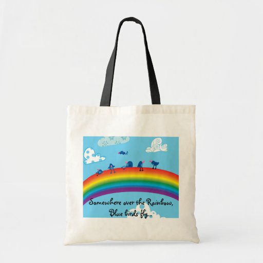 Somewhere over the rainbow canvas bags