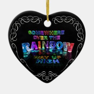 Somewhere Over the Rainbow Ceramic Ornament