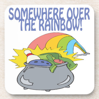 Somewhere Over The Rainbow Drink Coasters