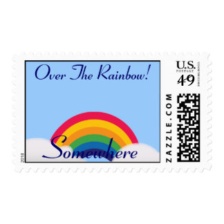 Somewhere Over The Rainbow-Customize Postage Stamp
