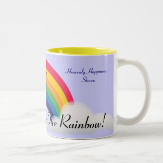 Somewhere Over The Rainbow!-Customize Two-Tone Coffee Mug