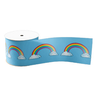 Somewhere over the rainbow grosgrain ribbon