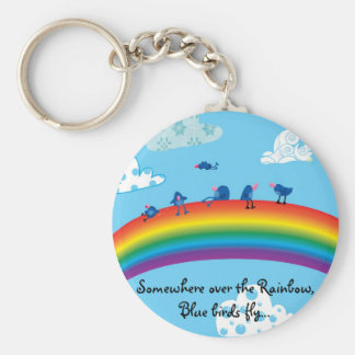 Somewhere over the rainbow keychain