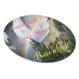 Somewhere over the rainbow plate