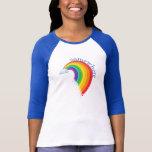 Somewhere Over the Rainbow Ragland Tee Shirts