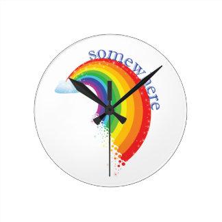 Somewhere Over the Rainbow Round Clock