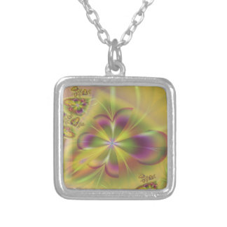 Somewhere Over the Rainbow Square Pendant Necklace