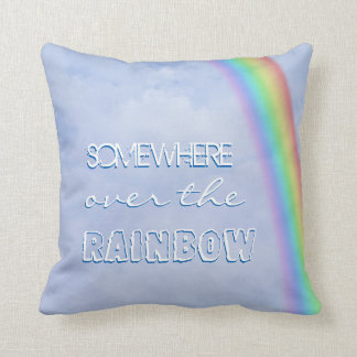 Somewhere over the Rainbow Throw Pillow