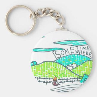 Somewhere / Sometime Keychain