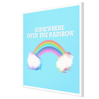 Somewhere to over the Rainbow Canvas Print