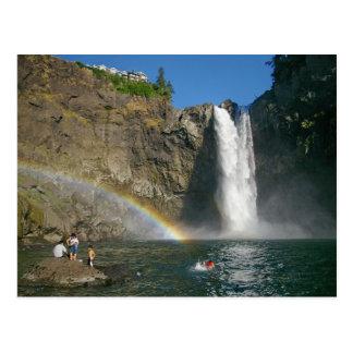 Somewhere under the rainbow postcard