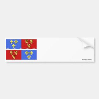 Somme flag car bumper sticker
