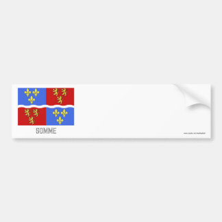Somme flag with name car bumper sticker