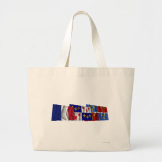 Somme, Picardie & France flags Tote Bags