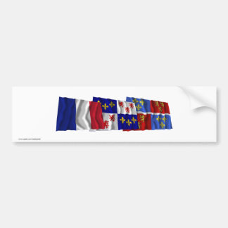 Somme, Picardie & France flags Car Bumper Sticker