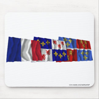 Somme, Picardie & France flags Mousepad